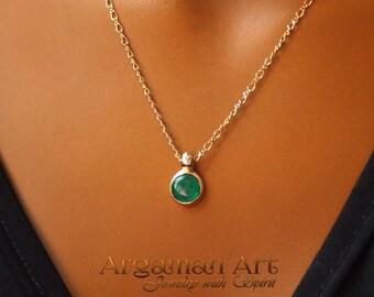 14k pendant,amazing emerald pendant,natural emerald pendant,14k,natural green emerald ,14k original necklace,pendant,amazing, beautiful gift