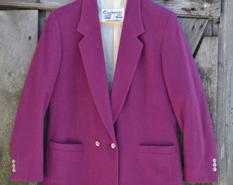 The Talbots Cashmere and Wool Blazer