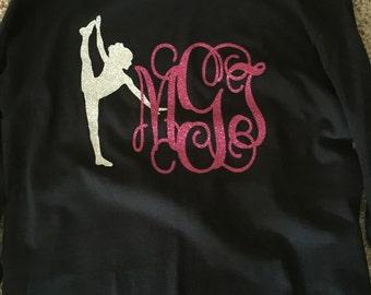 Monogrammed, Dance, Shirt, Glitter