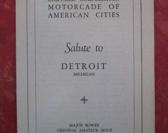 Chrysler Corp. Motorcade of American Cities Salute to Detroit 1941 Program / Brochure (4984)
