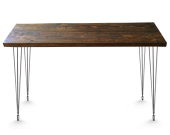 Reclaimed Desk & Dining Table w/ Hairpin Legs