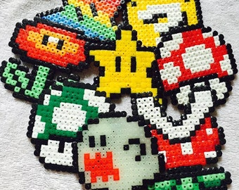 Mario hama bead sprites/magnets