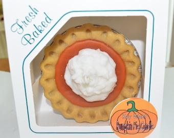 Adorable Pumpkin Pie Candle