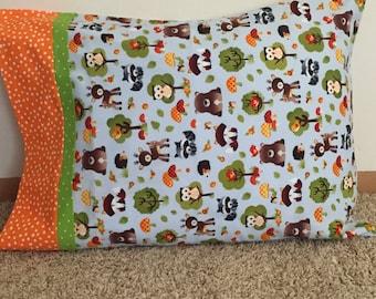 Novelty Woodland Animals,Handmade,100% Cotton Pillowcase,Pillow cover, STANDARD  size pillowcase, Ready to ship