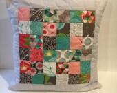 SALE! Springtime Patchwork Pillow Cover