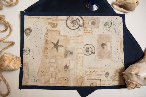 Handmade Indoor / Outdoor Seashells Placemat Set