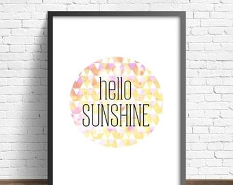 Hello Sunshine bright geometric print