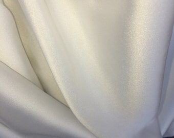 100% polyester Lining crisp white 60 inch w