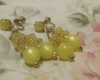 Rockabilly Earrings/Mid Century Modern Jewelry/Retro 50's Earrings/Hipster Earrings/Spun Nylon Earrings