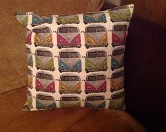 Campervan multi patterned cushion