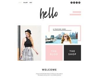 Premade Website Template, Website Design, Wix, Website, Theme, Template, Ecommerce Website, Online Store, Blog, Custom Website, Responsive