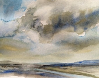 Sky painting, Cloud painting, Landscape painting