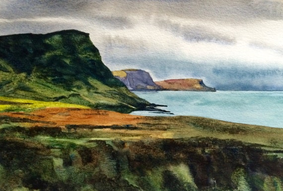 Isle of Skye, Scotland, Scottish landscape, sea painting