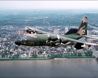 24x36 Poster . U.S. Air Force Ec-130E Hercules,193Rd, Harrisburg, Pennsylvania