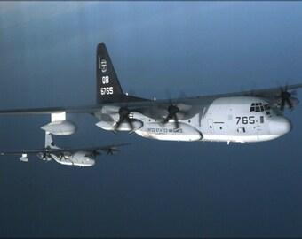 24x36 Poster . Kc-130J Hercules Aircraft, (Vmgr) 352 P2