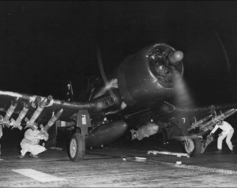 24x36 Poster . Vought F4U-4B Corsair Marine F Sq (Vmf-214) Blacksheep 1950