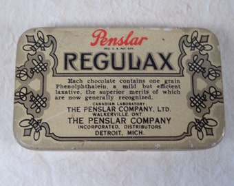 Regulax Chocolate Laxative Tin