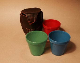 SALE!  REDUCED PRICE!  White Star Lunch Portable Shot Glasses