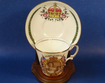 1953 Queen Elizabeth Coronation Tea Cup and Saucer Mixed Set