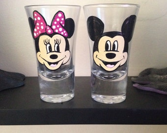 Minnie and mickey shot glass