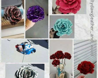 Metal roses made to order