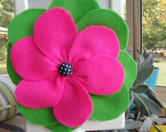 Felt Poppy Flower Hair Clip