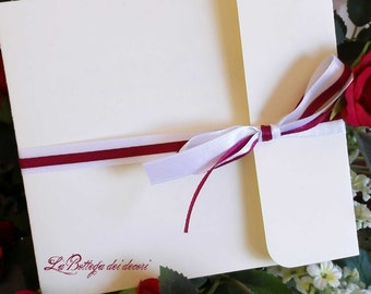 Elegant and refined participation, handmade and customizable
