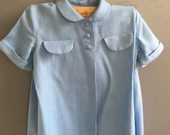 Jack Borgenicht size 3 Toddler Light Blue Top style 0142 / 1950's Children Designer
