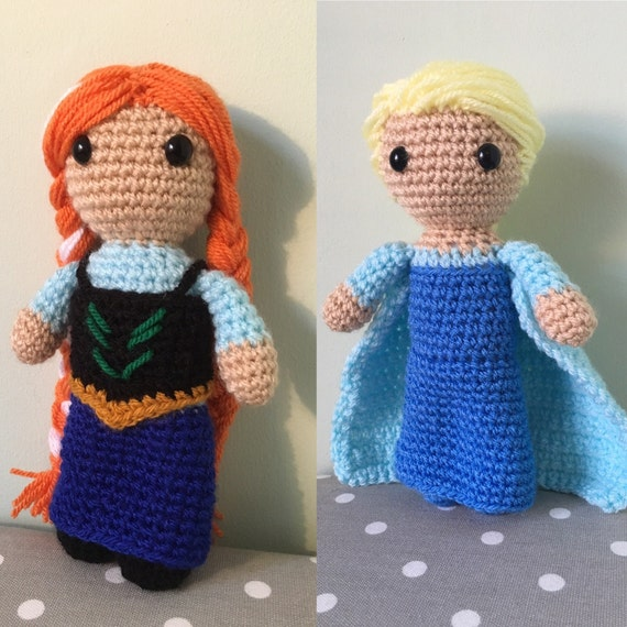 SPECIAL COMBO OFFER: Anna and Elsa from Frozen Amigurumi