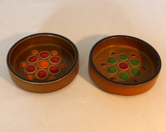 Pair of Hornsea trinket dishes - original from the 1970s