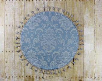 Something Blue - Round Table Topper - French Blue Centerpiece - Table Decor - Damask Table Topper - Table Centerpiece - Wedding Table Topper