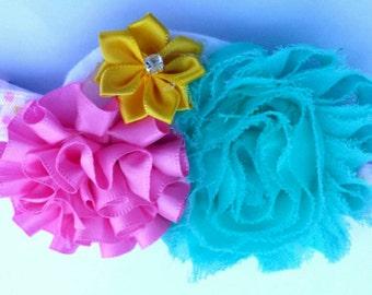 Spring headband - Pastel Headband- Pastel colors - Miss Thangs - Multiple Color Headband - Baby Girl's Pastel Headband - Infant Hairbow