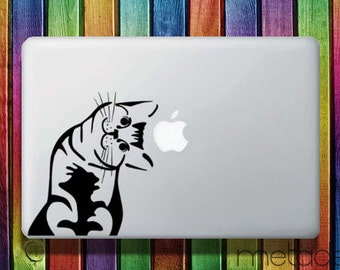 "Cat Kitty Macbook Sticker Decal for 13"" and 15"" - laptop stickers, macbook stickers, macbook decals, macbook sticker, macbook pro stickers"