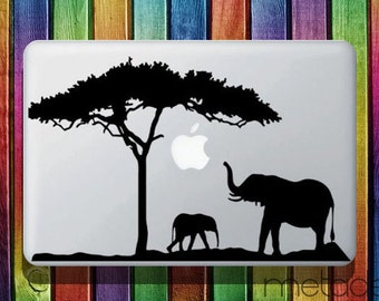 "Elephants Macbook Sticker Decal 13"" and 15"" - laptop stickers, macbook stickers, macbook decals, macbook sticker, macbook pro stickers"