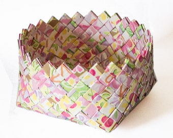 Items similar to GOING IN CIRCLES coiled Paper basket from