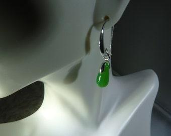 Sterling silver  Seafoam teardrop earrings
