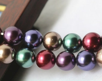 12 mm South Sea Shell Pearls Round Beads, 15 inches 1 strand