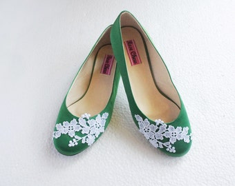 Green Wedding Shoes Etsy