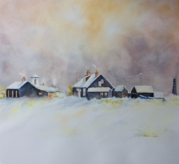 Watercolour painting of  DUNGENESS Kent