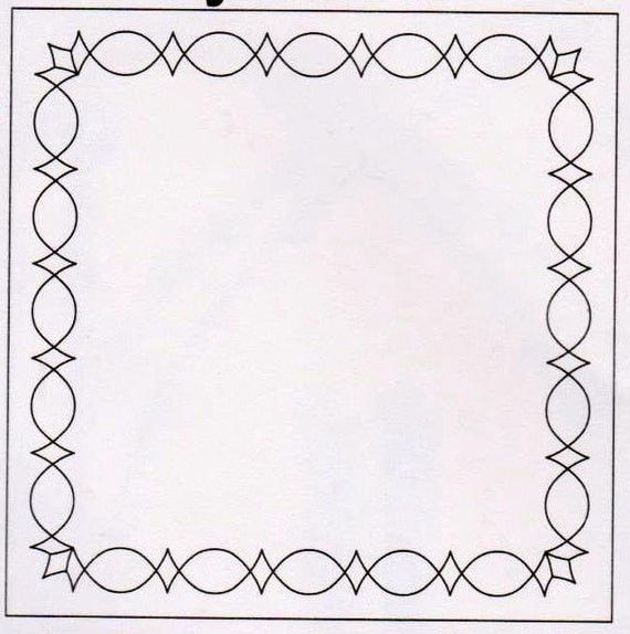 Border Quilting Template PEAKS & VALLEYS Quilting Stencil