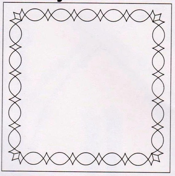 Quilting Border Template : Border Quilting Template PEAKS & VALLEYS Quilting Stencil