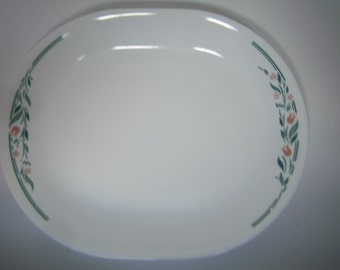 Rosiemarie Platter, By Corning Ware, Corelle Platter, Floral Design, Serving Platter, Good Clean Condition, Microwave Safe, Made In USA