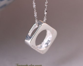 925 Sterling Silver  Necklace Pendant-Promise, Looks Elegant with Most of Dress