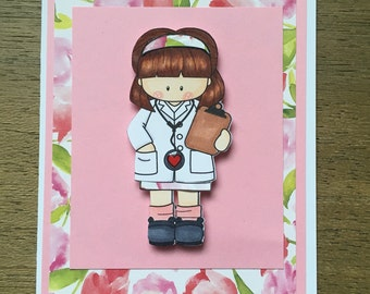 Thank you card for Female Doctor