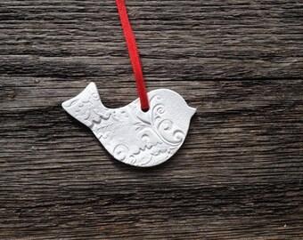 Christmas dove ornament, Christmas tree, Home decor, Wall decor, Gift tag