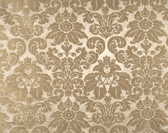 SCALAMANDRE LOTUS Medallions SILK Gaufre Damask Fabric 10 Yards Dove