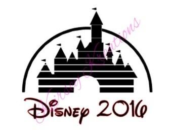 Disney 2016 SVG Cutting File