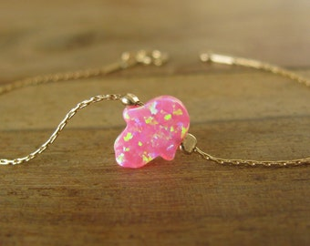Hamsa bracelet, gold bracelet, gold hamsa bracelet, evil eye bracelet, gold hand bracelet, protection jewelry, dainty bracelet, opal hamsa