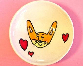 ON SALE Fox Dish