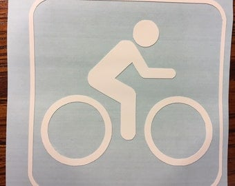 Cycling sticker Water Bottle Laptop Locker Car